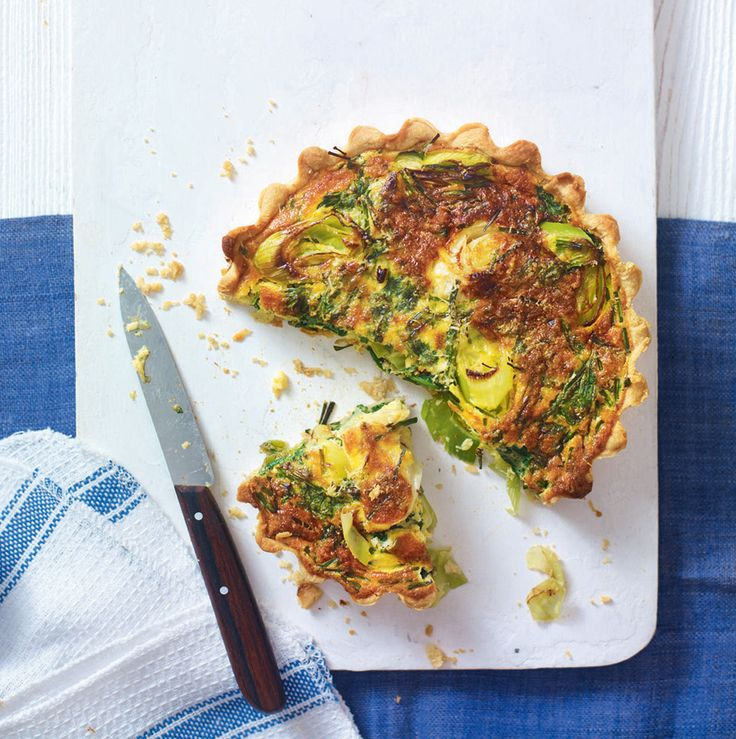 This tart recipe is a tasty update on the classic vegetarian quiche. Feel free to swap gruy�re for goat's cheese or vary the vegetables with mushrooms or peppers.