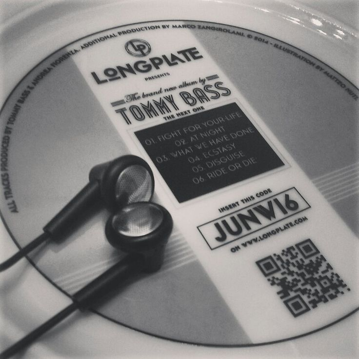 Longplate special edition Tommy Bass with #rfid code to dowload free music