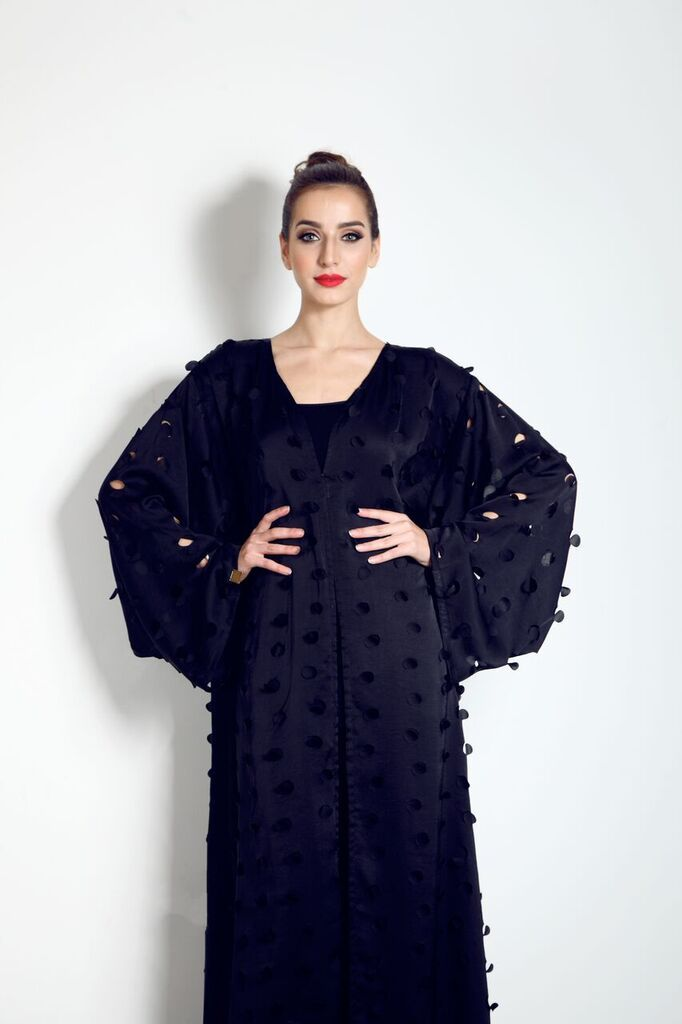 For just £79.99 this beautiful black cut out abaya could be yours.