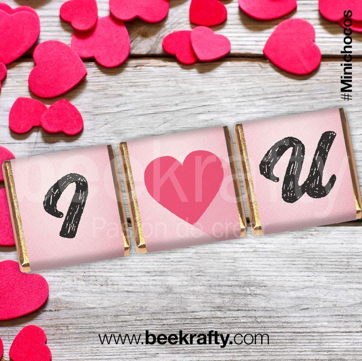Dile lo que sientes de la forma más creativa.  En www.beekrafty.com personalizamos los chocolates con lo que quieras. #chocolate #personalizados #amor #enamorados #fallinlove #Iloveyou #beekrafty #pasionporcrear