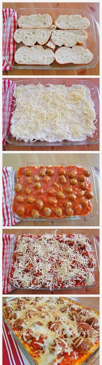 Easy  Delicious.. Meatball Sub Casserole. 30 Minute Dinner Recipe! Umm...yes please.