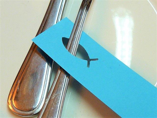 Dekoration – 30 St. Platzkarte Tischkarte Fisch Kommunion – ein Designerstück v… – A. W.