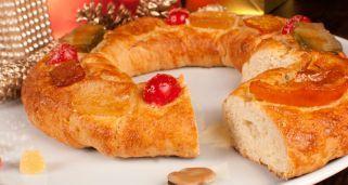 Roscón de Reyes especial alergias: sin huevo ni leche