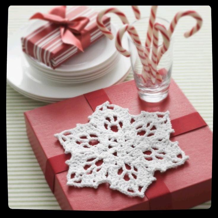 #Snowflake dishcloth or trivet :) Perfect for winter decor #yarn #love #crochet: Craft, Free Pattern, Christmas, Snowflake Dishcloth, Crochet Snowflakes, Crochet Patterns, Crocheted Snowflake