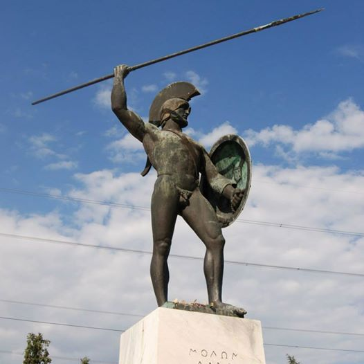 Visit Greece | Monuments in Greece Statue of Leonidas at the Battle of Thermopylae #monuments #history #art&culture
