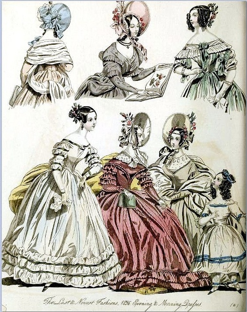 The World of Fashion and Continental Feuilletons 1836 Plate 56 by CharmaineZoe, via Flickr
