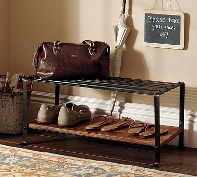 Blacksmith Shoe Rack #potterybarn: Coats Racks, Blacksmithing Shoes, Mud Rooms, Front Doors, Shoes Storage, Shoe Racks, Copy Cat Chic, Shoes Racks, Pottery Barns