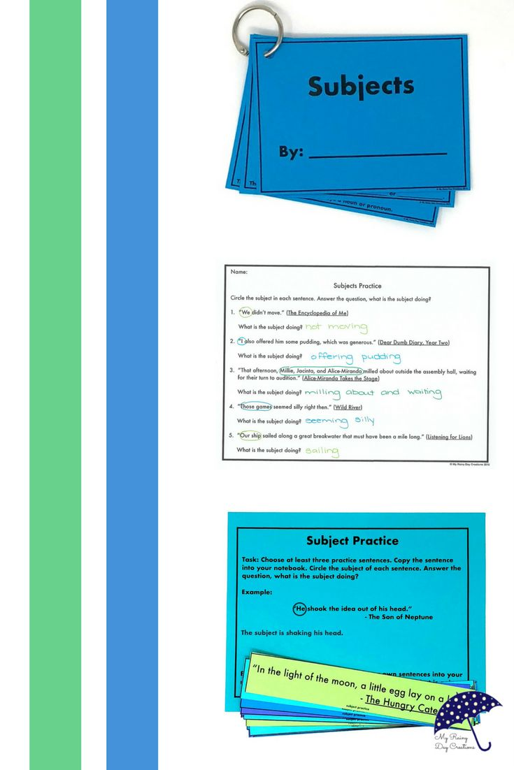 Are you teaching your class subjects and predicates? Keep it simple, teach subjects first! Your students will master identifying subjects with this resource. You get an activity, worksheets, and an information page. This unit works for 3rd grade, 4th grade, 5th grade, or middle school because it gives your students a foundation in grammar. Click to check it out.