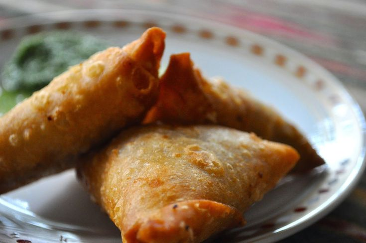 Samosas made with uncooked flour tortillas