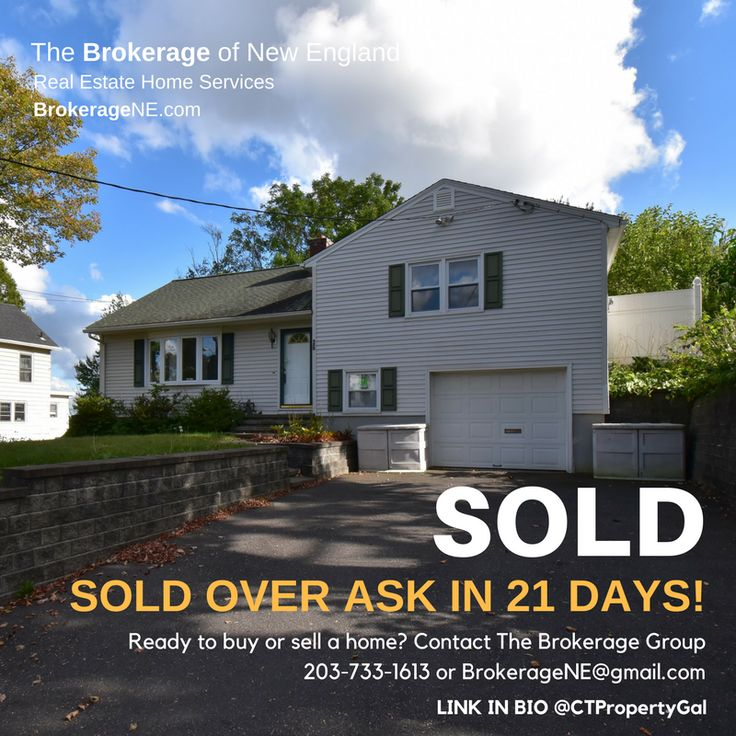 Fall maybe the best time to sell your home. Received multiple offers over ask and closed within 21 days! Have a home to sell? Contact us at The Brokerage of New England 203-733-1613
