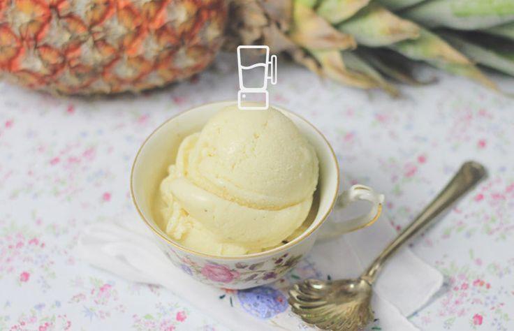 Sorvete de abacaxi super ultra fácil e de liquidificador