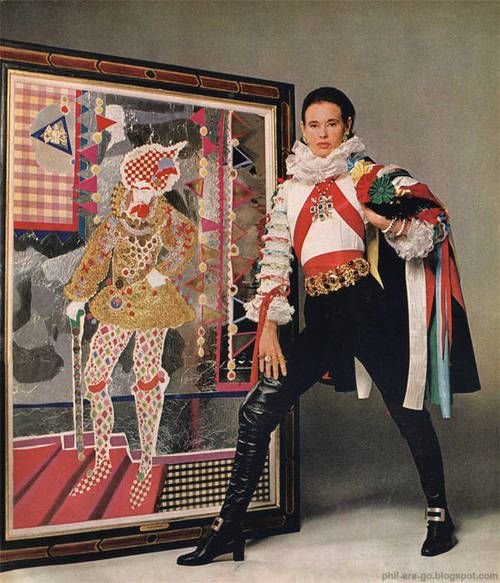 gloria vanderbilt & one of her collages