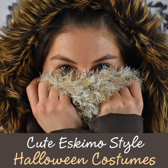 Sassy and Cute Eskimo Inspired Halloween Costumes and Outfits for Women to Wear Hooded Winter Short Dresses Fancy Dress Designs
