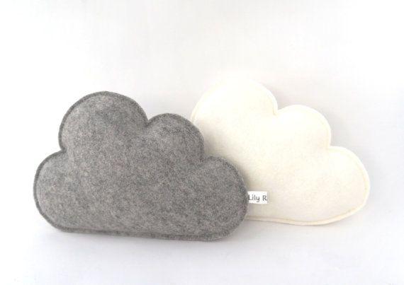 Cloud pillows Set of two Cloud Softies Nursery Clouds by LilyRazz