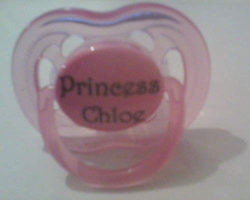 Pink Avent Dummy With 'princess chloe'