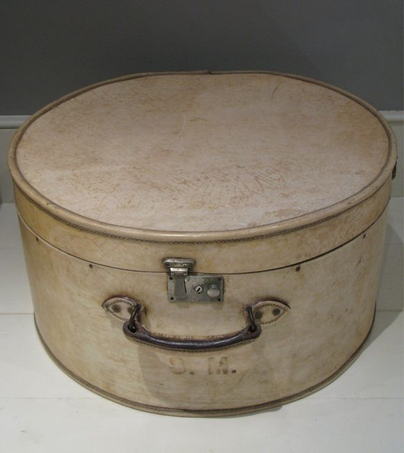 A prime example of a well made lockable hat box that has stood the test of time.