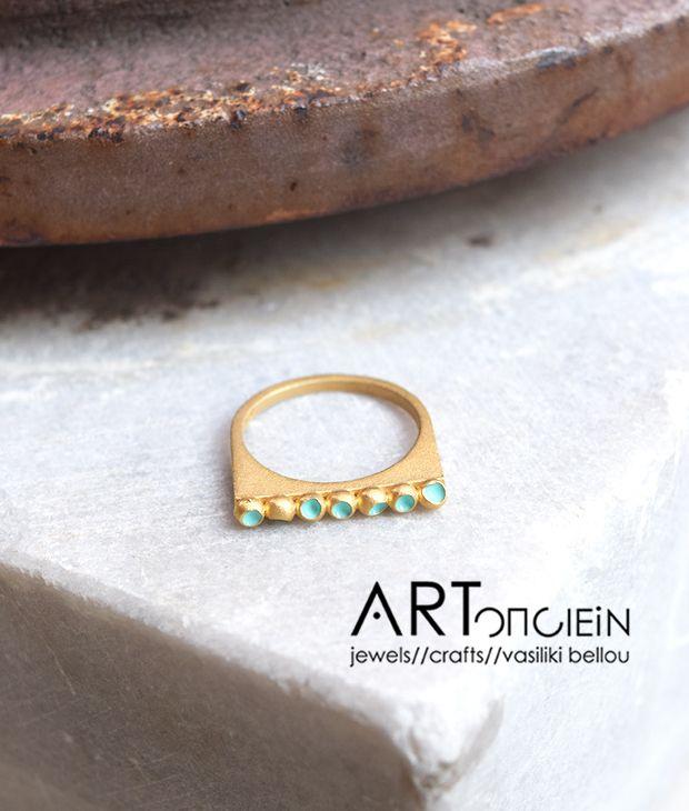 Δαχτυλίδι με σμάλτο Atelier Errikos