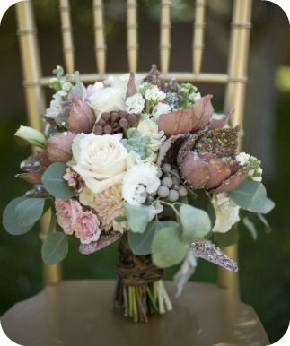 Fall Wedding Bouquet - Utah Events By Design / Photographer:  Tonya Peterson    I like the muted colors - with all the other bold color, this might stand out better