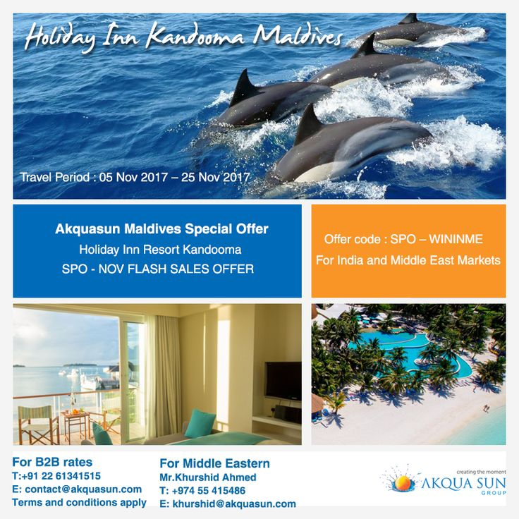 Find your tropical island paradise at the lagoon-facing Holiday Inn Resort ® Holiday Inn Resort Kandooma Maldives.  Speedboats ferry you across the #turquoise waters from Velana International Airport (Malé) to our contemporary #Maldives #resort hotel in just 40 minutes. Slip into island life from the moment you arrive at Holiday Inn Resort® Kandooma Maldives, with world-class South Malé Atoll diving and surfing on your doorstep.