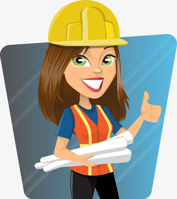 Cute female construction engineer, Cartoon, Female, Cause PNG Image