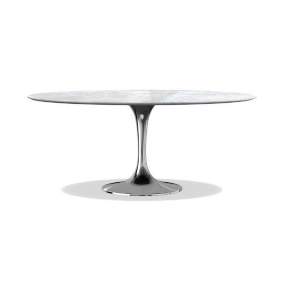 Tulip Oval Pedestal Table Carrara Marble Oval Table Dining Dining Table Pedestal Dining Table