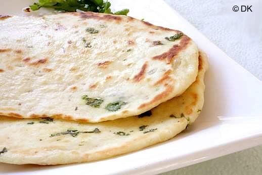 Coriander/Cilantro Naan (Indian Flatbread)