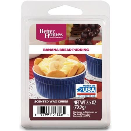 Better Homes And Gardens Banana Bread Pudding Wax Cubes