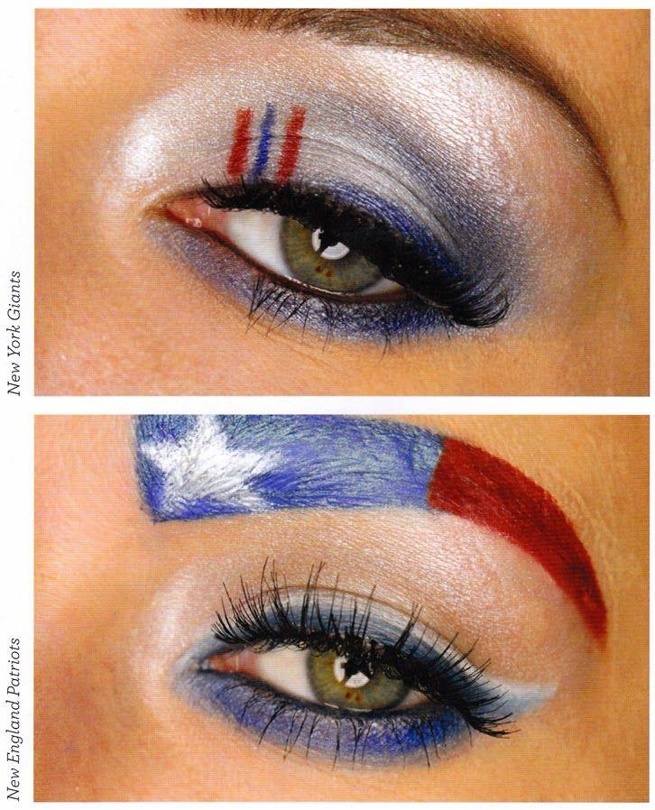 New England Patriot Eye Makeup, New York Giants Eye Makeup