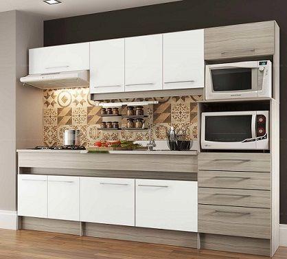Armário de cozinha planejado moderno