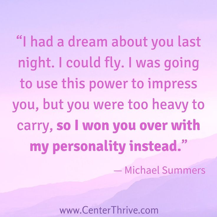 """...I won you over with my personality instead.""  -Michael Summers, I Had a Dream About You #quote"