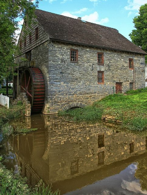 Herr's Grist Mill with Water Wheel
