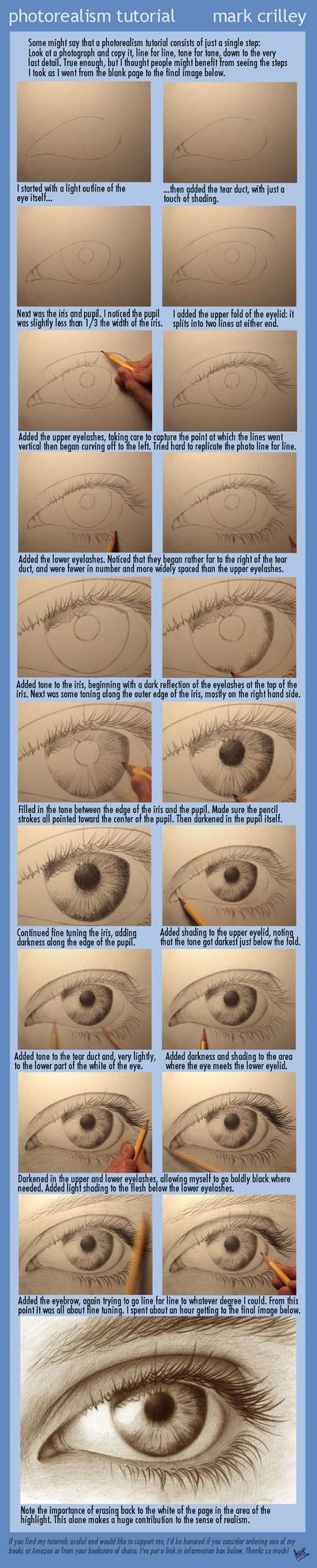 How to draw a photorealistic eye