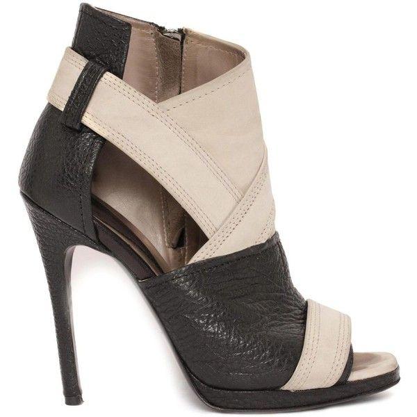 McQ The Lara Peep Toe Boot found on Polyvore
