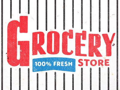 Grocery Store   Designer: Kyle Anthony MillerDesign Inspiration, Kyle Anthony, Stores Signs, Awesome Ephemera, Black White, Anthony Miller, Types, Grocery Stores, Red Black