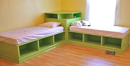 Instructions to make these cute twin beds