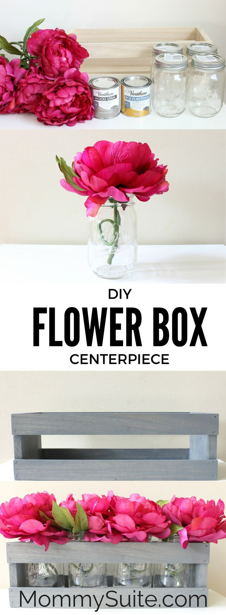 read flowers in a box