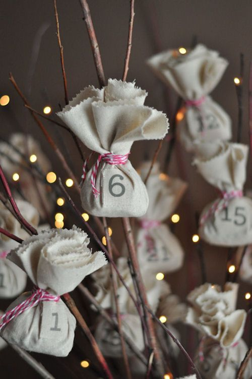 Easy Advent Calendar DIY. Reusable! No sew!