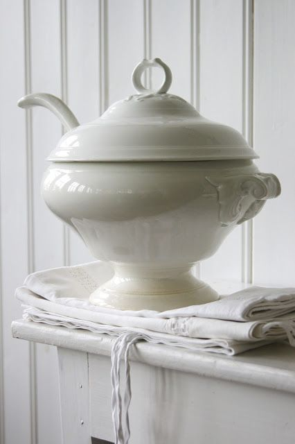 Ironstone is perfect for soup tureen