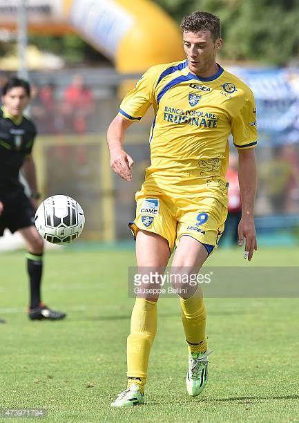 Daniel Ciofani of Frosinone in action during the Serie B match between Frosinone Cacio and FC Crotone at Stadio Matusa on May 16 2015 in Frosinone...