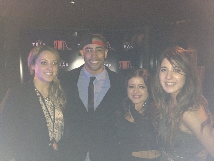 Myself, Danielle & Jess with Solo from justice crew