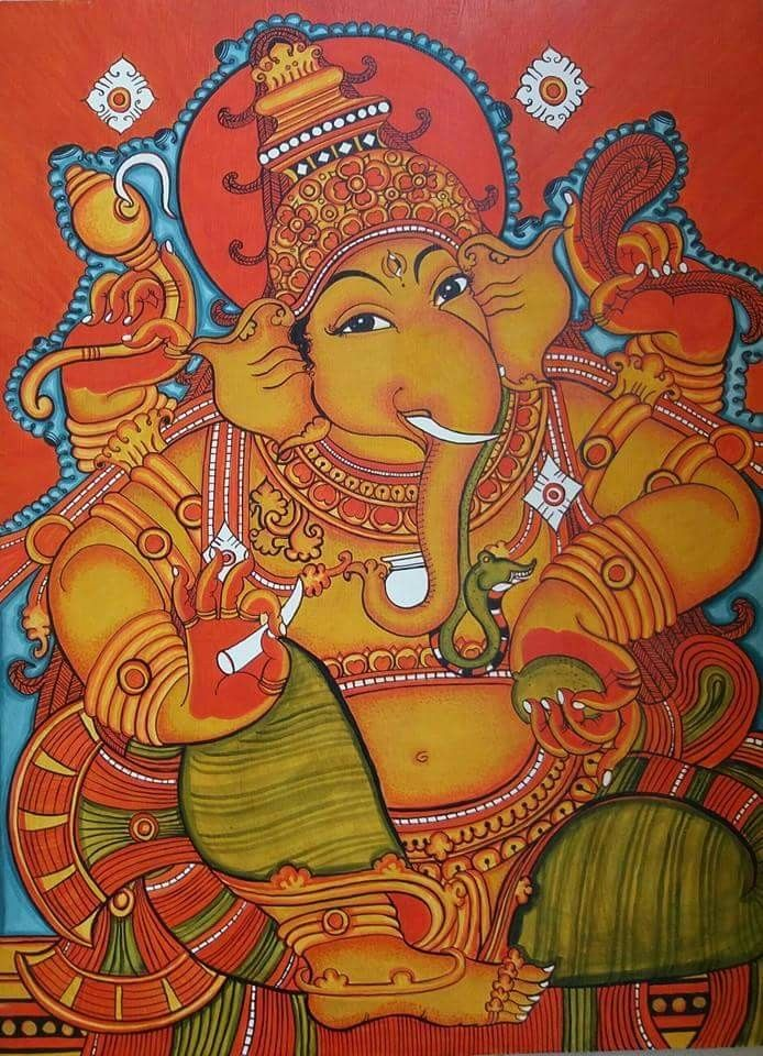 857 best images about murals on pinterest ganesh lord for Mural ganapathi
