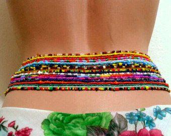 Handmade Waist Bead Body jewelry Belly beads by FadikAccessories