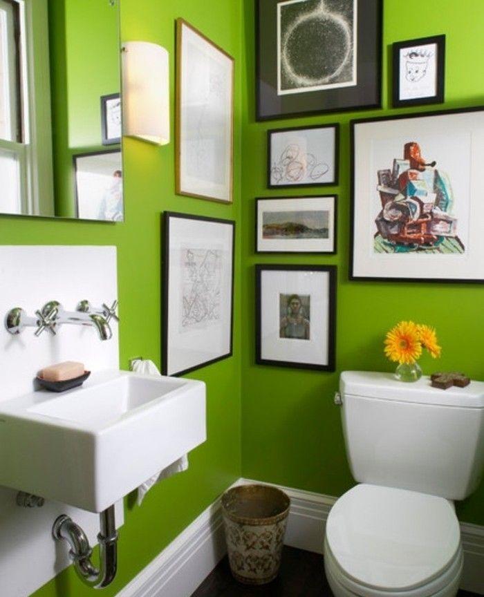 peinture salle de bain 80 photos qui vont vous faire craquer - Salle De Bain Verte Et Noire