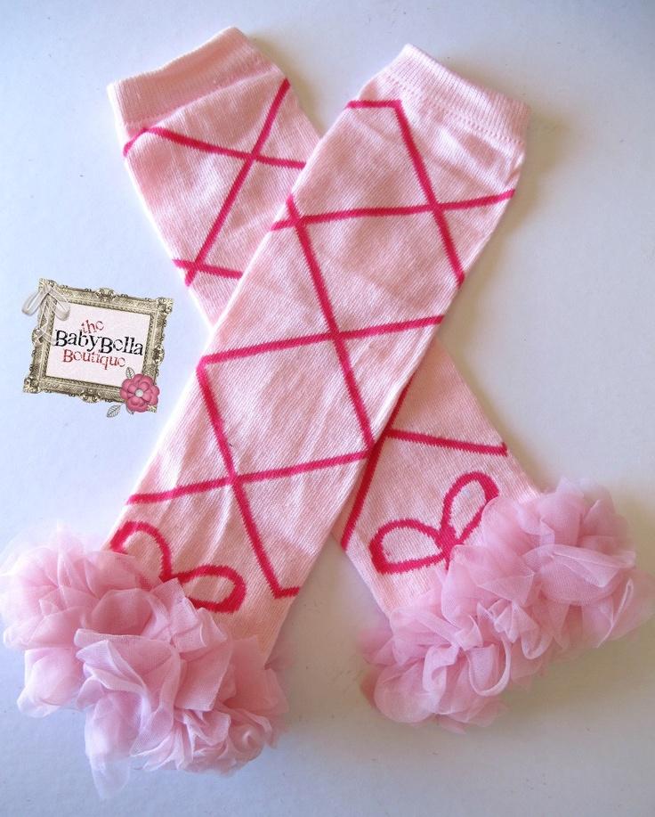 Girls Leg Warmers Pink  Ballerina ruffle by TheBabyBellaBoutique, $8.90