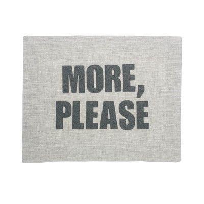 "Alexandra Ferguson ""More, Please"" Placemat Color: Flax Linen / Heather Grey"