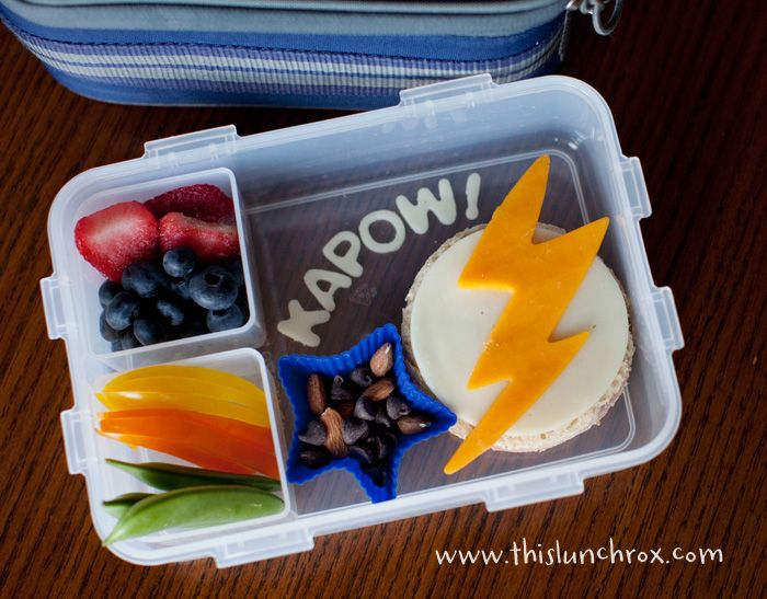 Superhero lunch boxFun Lunches, Kids Lunches, Super Heros, Cute Ideas, Lunches Boxes, Lunches Ideas, Super Heroes, Healthy Food, Healthy Lunches