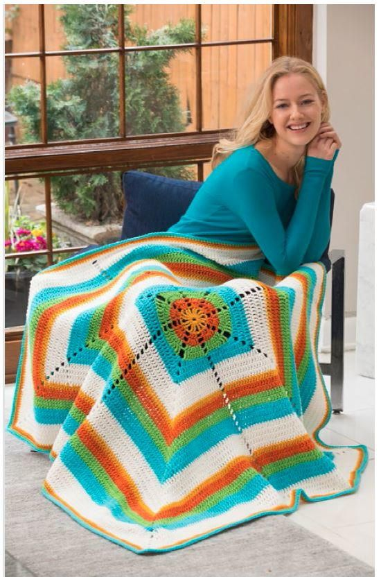 304 best Crochet Throw Patterns and Lapghans images on Pinterest ...