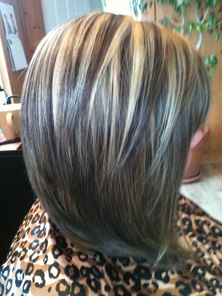 Inverted Bob With Highlights And Lowlights Hairstyles