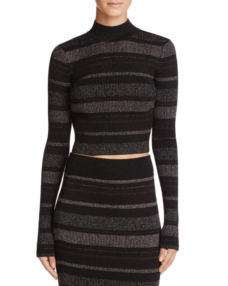 KENDALL + KYLIE Metallic Stripe Sweater