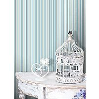Home of Colour Martez Stripe Wallpaper - Teal